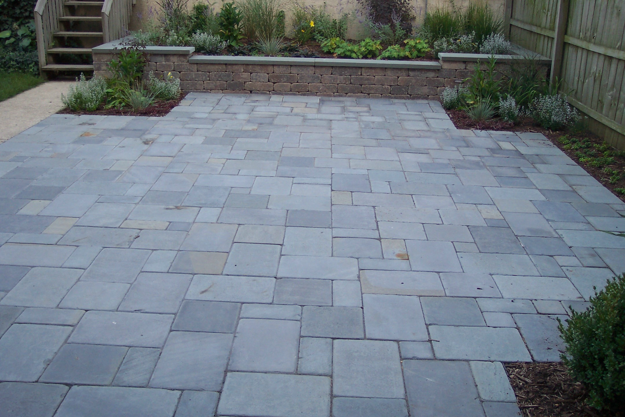 Flagstone Patio With Stone : Backyard on pinterest flagstone patio and